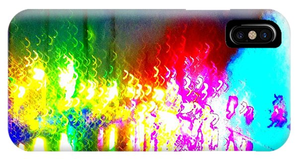 Rainbow Splash Abstract IPhone Case