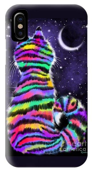 Rainbow Tiger Cat IPhone Case