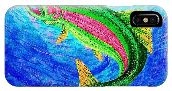 iPhone Case - Rainbow Trout by Cynthia Sampson