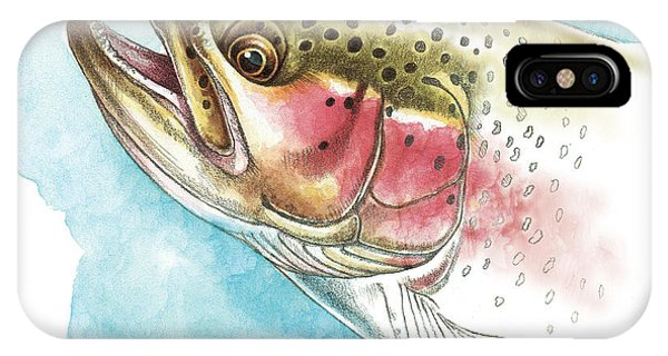 Trout iPhone Case - Rainbow Trout Study by JQ Licensing