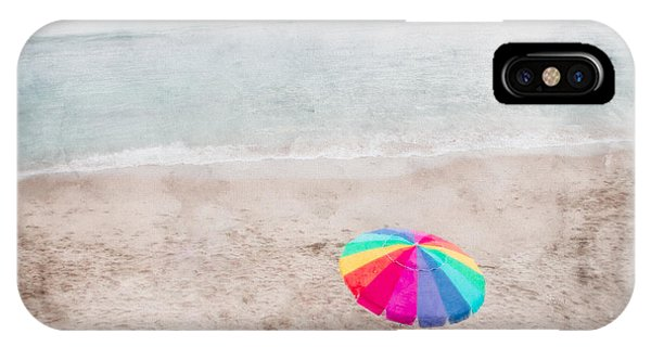 Rainbow Umbrella On Beach IPhone Case