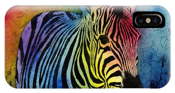 Vivid Colors iPhone Case - Rainbow Zebra by Hailey E Herrera