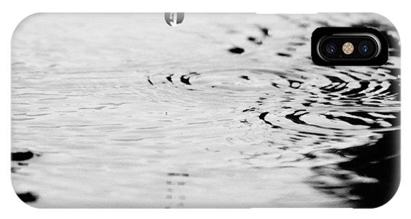 Raindrop And Circles. Phone Case by John Murphy