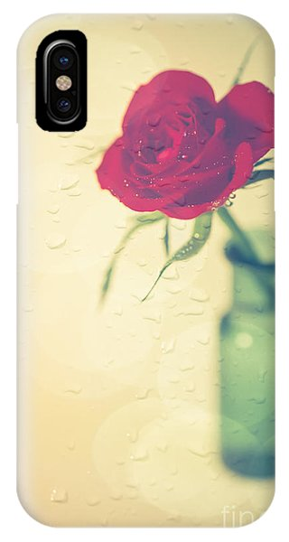Valentines Day iPhone Case - Raindrops On Roses . . . by Jan Bickerton