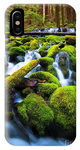 Creek iPhone Case - Rainforest Magic by Inge Johnsson