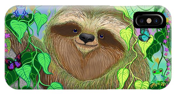 Rainforest Sloth IPhone Case