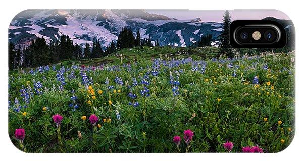 Rainier Flowering Meadow IPhone Case
