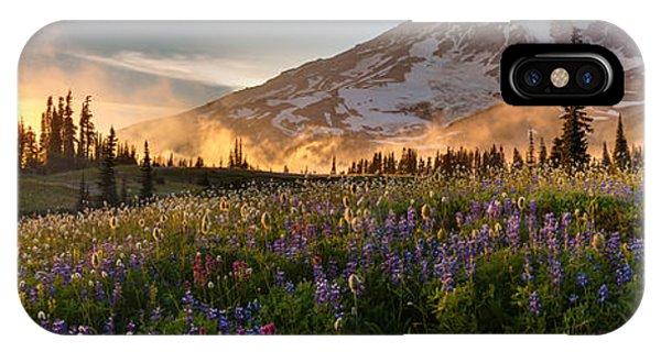 Rainier Golden Light Sunset Meadows IPhone Case