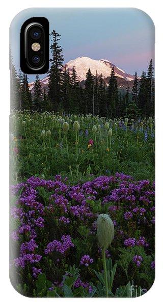 Heather iPhone Case - Rainier Pastel Dawn by Mike  Dawson