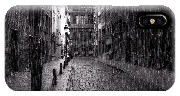 Raining In Amsterdam IPhone Case