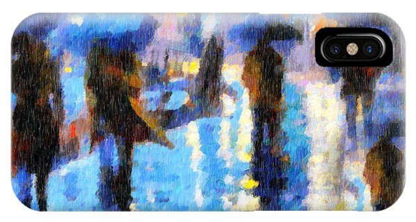 Raining In Italy Abstract Realism IPhone Case