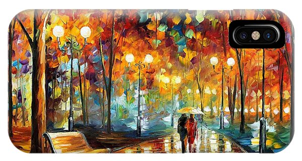 iPhone Case - Rain's Rustle 2 - Palette Knife Oil Painting On Canvas By Leonid Afremov by Leonid Afremov
