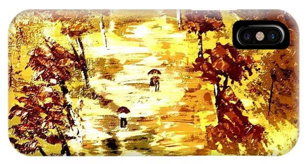 Rainy Autumn Trail  IPhone Case