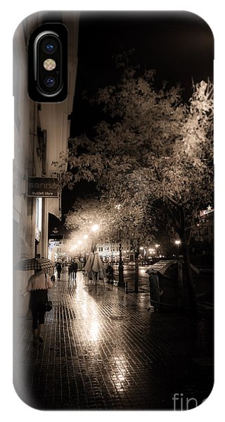 Rainy City Streets  IPhone Case
