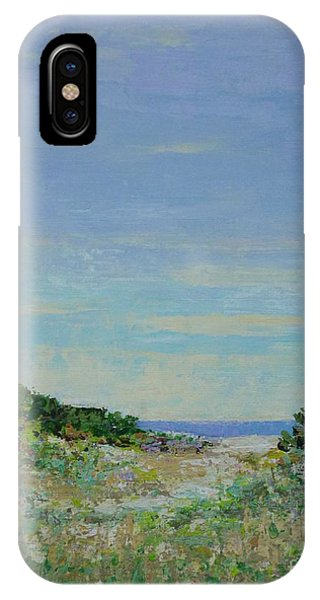 Rainy Day Beach Blues IPhone Case
