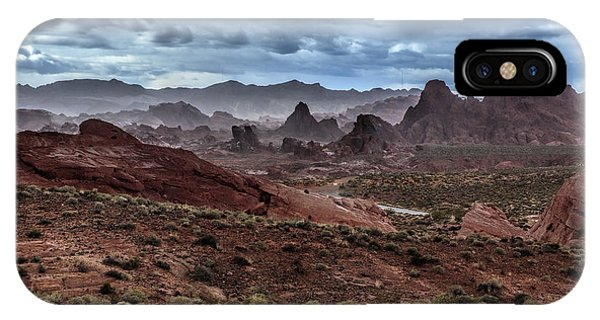 Valley Of Fire iPhone Case - Rainy Day In The Desert by Rick Berk