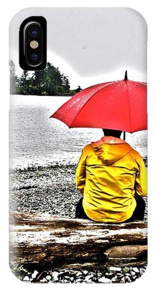 Rainy Day Meditation IPhone Case