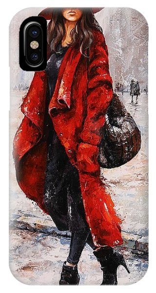 Rainy Day - Red And Black #2 IPhone Case