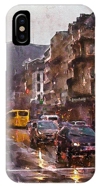 Rainy Day iPhone Case - Rainy Day Traffic by Marian Voicu
