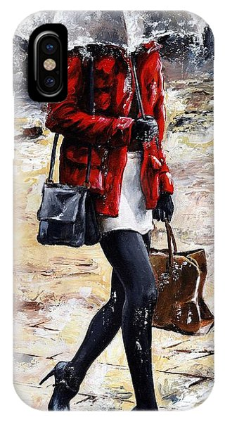 Rainy Day - Woman Of New York 09 IPhone Case