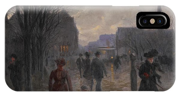 Avenue iPhone Case - Rainy Evening On Hennepin Avenue by Robert Koehler