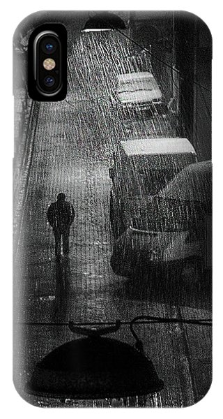 Wet iPhone Case - Rainy Man by Nihal Eken