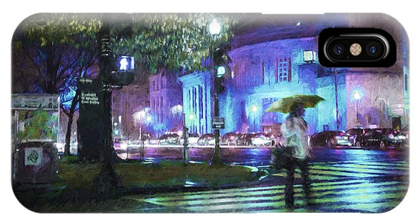 Rainy Night Blues IPhone Case