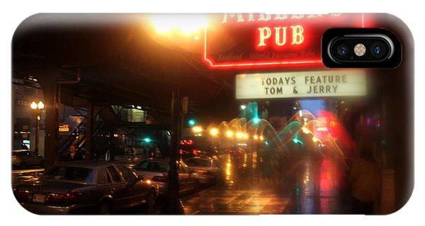 Rainy Night In Chicago IPhone Case