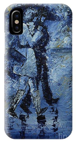 Rainy Night Phone Case by Roni Ruth Palmer