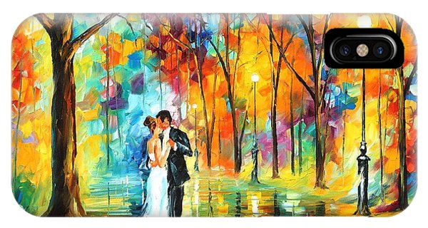 iPhone Case - Rainy Wedding - Palette Knife Oil Painting On Canvas By Leonid Afremov by Leonid Afremov