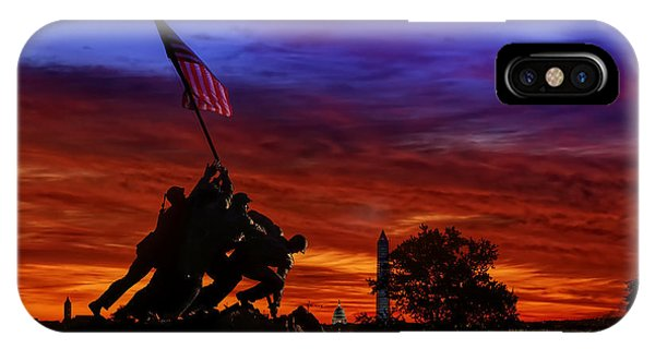 Raising The Flag IPhone Case