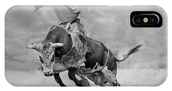 Action iPhone X Case - Ram Rodeo by Yun Wang