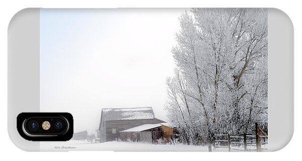 Ranch In Frozen Fog IPhone Case