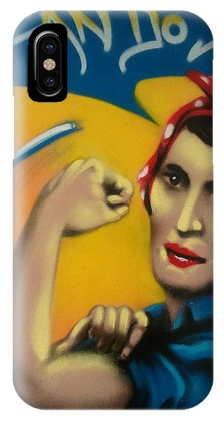 Ayn Rand iPhone Case - Rand The Riveter by Defstar