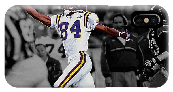 Nfl iPhone Case - Randy Moss by Brian Reaves