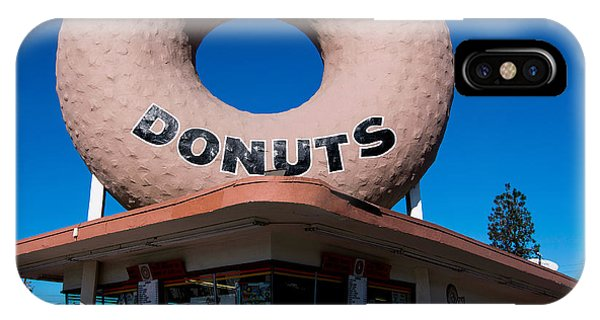 Road Signs iPhone Case - Randy's Donuts by Stephen Stookey