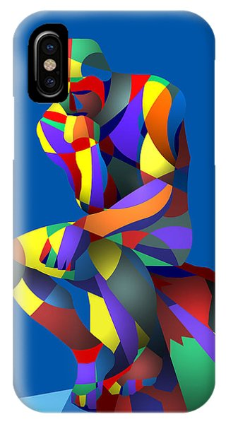 Randy's Rodin Blue IPhone Case