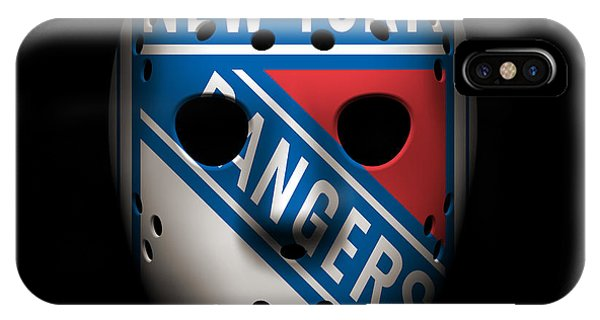 Puck iPhone Case - Rangers Goalie Mask by Joe Hamilton