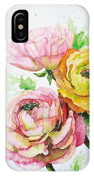 Ranunculus Flowers IPhone Case