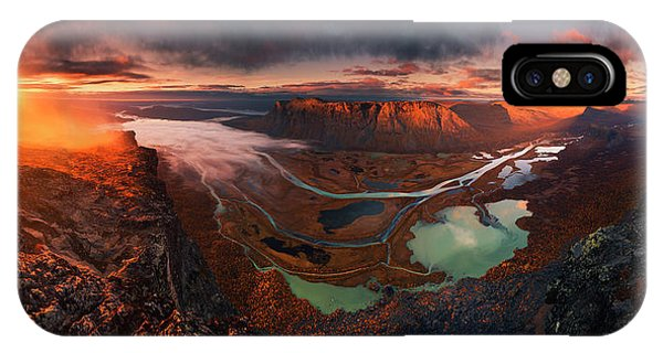 Panorama iPhone Case - Rapa River Delta by Karol Nienartowicz