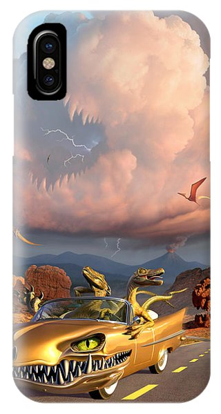 Dinosaur iPhone Case - Rapt Patrol by Jerry LoFaro