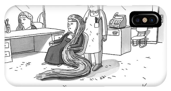 Rapunzel Sits In A Barber's Chair IPhone Case