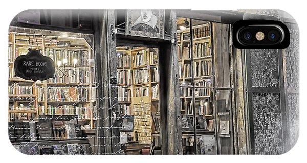 Rare Books Latin Quarter Paris France IPhone Case