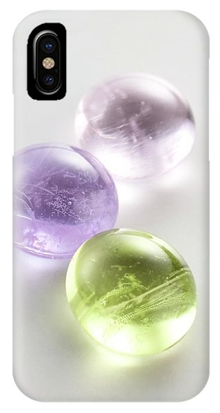 Er iPhone Case - Rare Earth Glass Beads by Science Photo Library