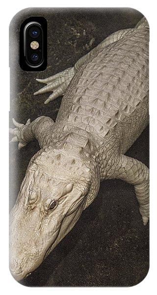 Rare White Alligator IPhone Case