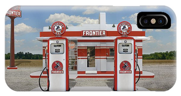 Gas Station iPhone Case - Rarin To Go - Frontier Station by Mike McGlothlen