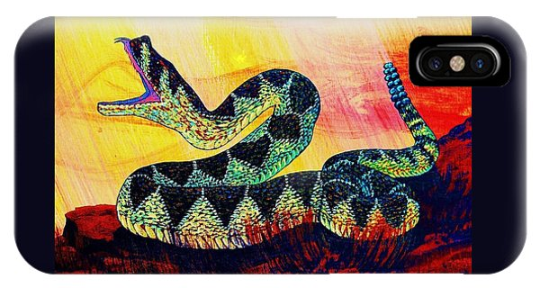 iPhone Case - Rattle Snake by Cynthia Sampson
