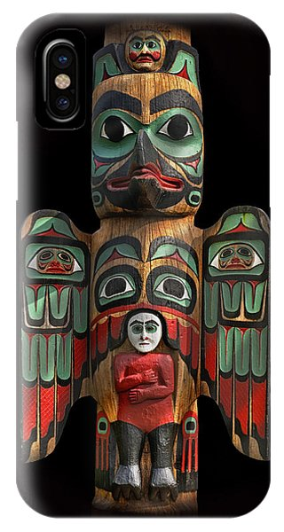 Raven And Saxman Totem IPhone Case