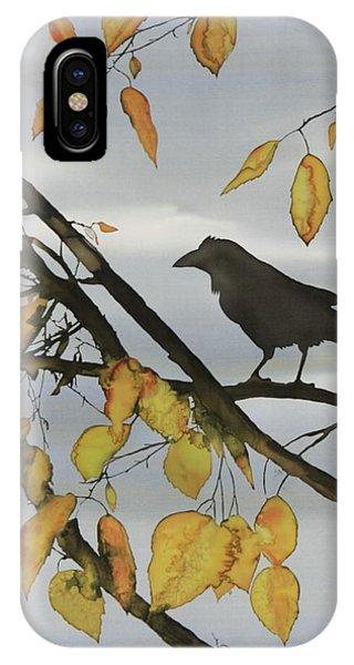 Raven In Birch IPhone Case