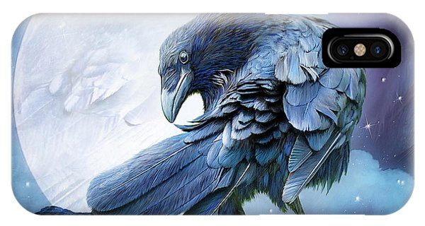 Moon iPhone Case - Raven Moon by Carol Cavalaris